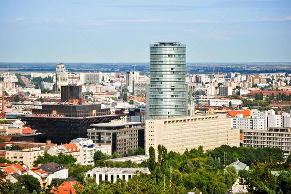 Városkép Pozsony híres épületek város üzlet Stock fotó © hraska