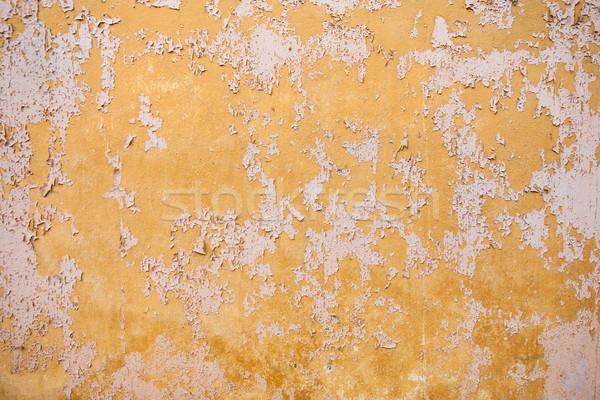 Textuur haveloos verf scheuren Geel gekleurd Stockfoto © hraska
