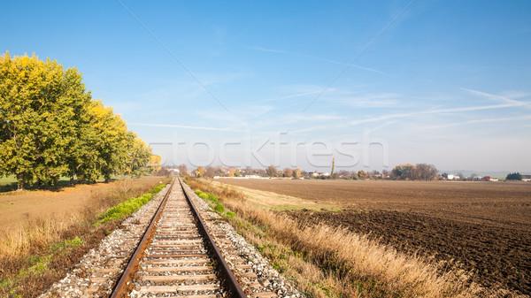 View of the railway track Stock photo © hraska