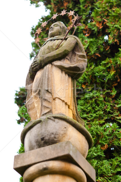 Photo stock: Anciens · statue · vierge · pierre · colonne · début