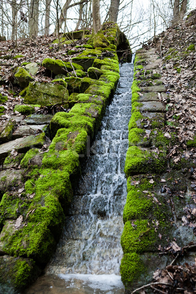 Beautiful small waterfall Stock photo © hraska