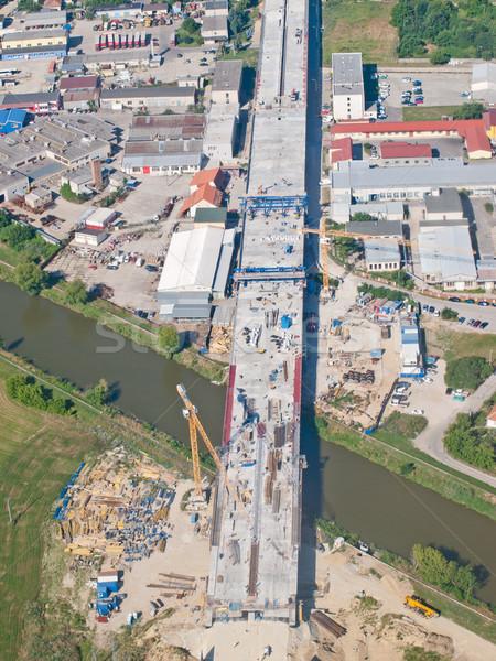 Snelweg bouw industriële auto weg gebouw Stockfoto © hraska