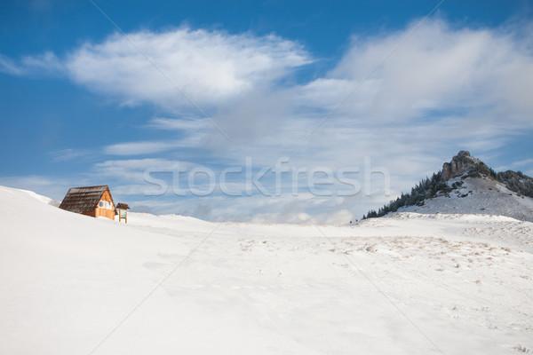 Tourist mountain hut Stock photo © hraska