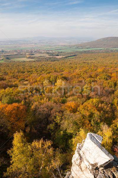 Foresta rocce panorama rock autunno Foto d'archivio © hraska