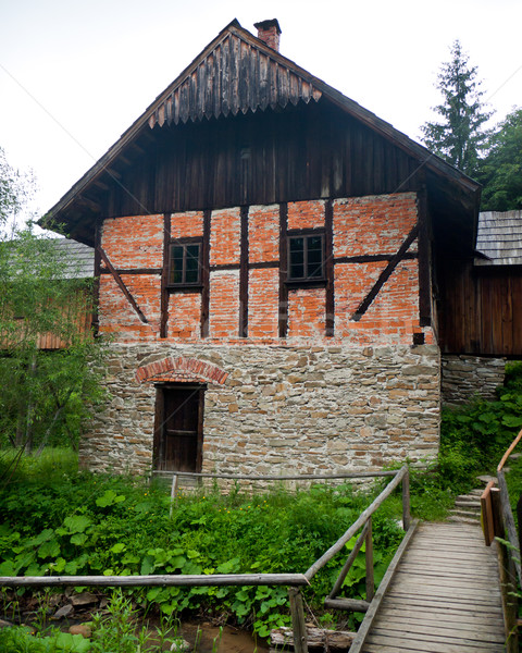 Water mill building Stock photo © hraska