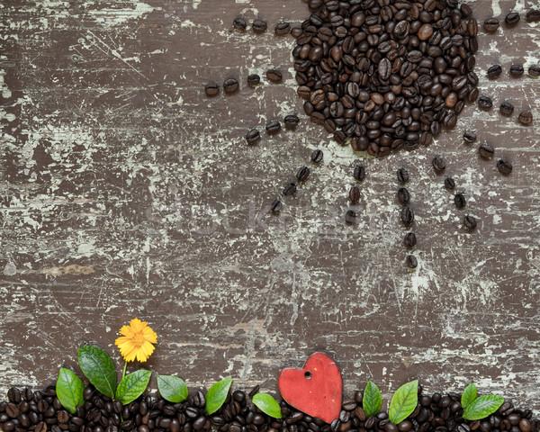Amour énergie café soleil grains de café Photo stock © hraska