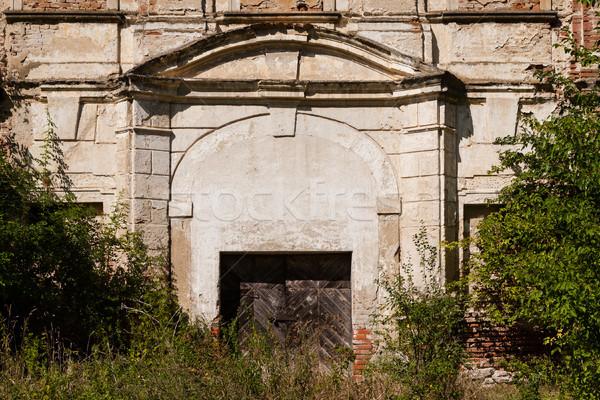 Huis houten deuren deur manier verlaten Stockfoto © hraska