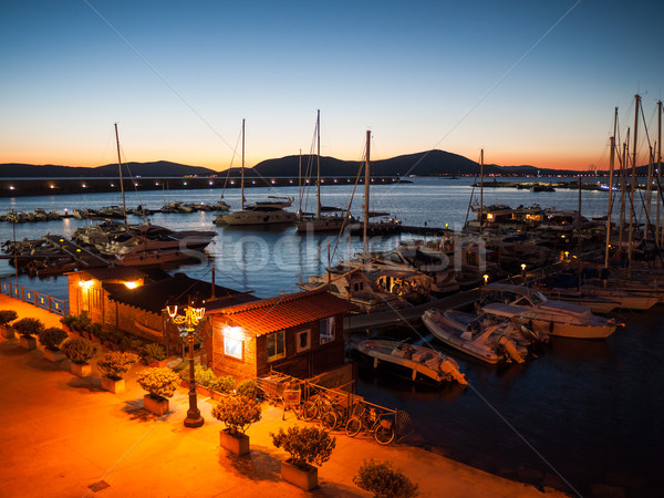Quiet Mediterranean port Stock photo © hraska