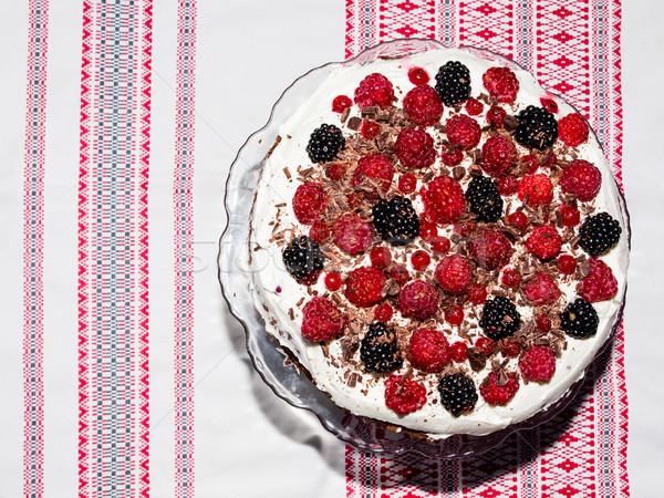 Berries tart cake Stock photo © hraska