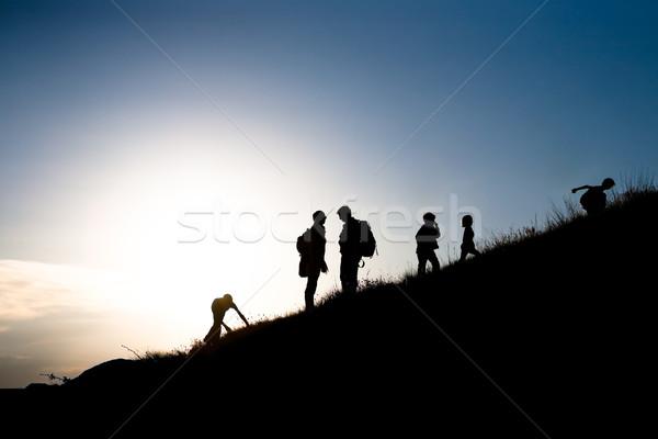 Rising family Stock photo © hraska
