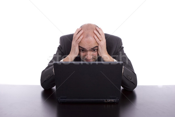 Business man working with laptop Stock photo © hsfelix