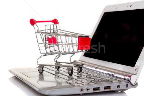 Carrinho de compras computador portátil negócio tecnologia comunicação Foto stock © hsfelix