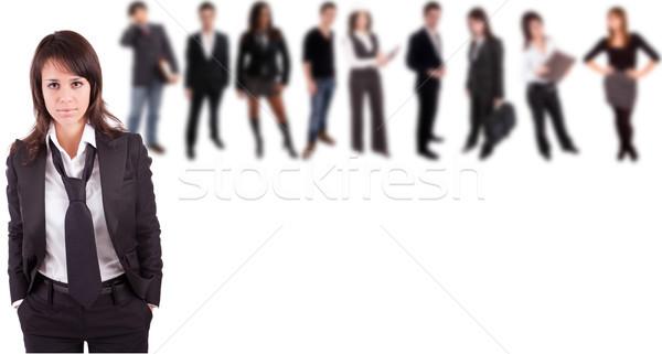 Iş kadını poz insanlar gülümseme model eğitim Stok fotoğraf © hsfelix