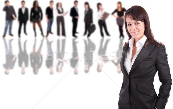 ビジネス女性 ポーズ 人 笑顔 作業 モデル ストックフォト © hsfelix
