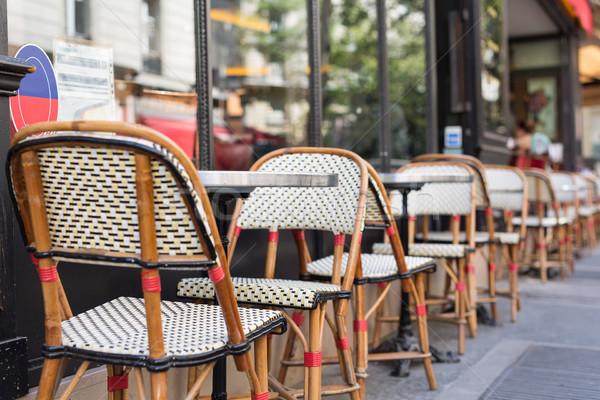 ストックフォト: 食べる · パリ · 典型的な · フランス語 · レストラン