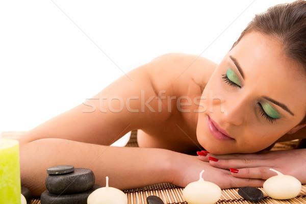 女性 スパ 小さな 美人 リラックス 健康 ストックフォト © hsfelix