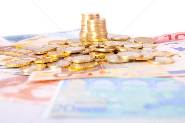 Soldi note monete business finanziare Foto d'archivio © hsfelix