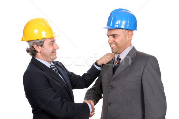 Two Engineers or Architects, closing new project Stock photo © hsfelix