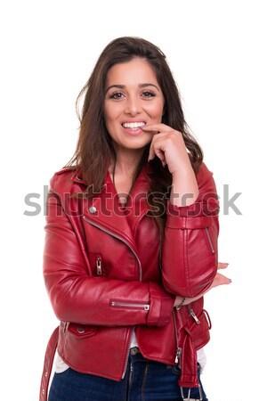 Genç güzel gündelik kadın kız Stok fotoğraf © hsfelix