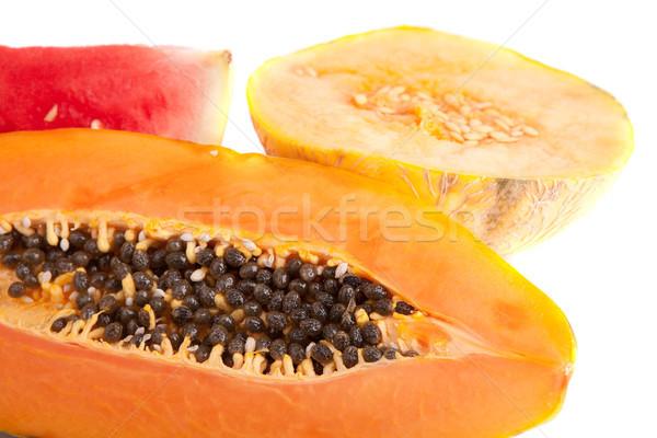 Melone anguria fette isolato bianco alimentare Foto d'archivio © hsfelix