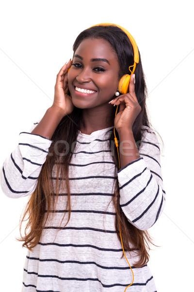 音楽 いい 美しい 小さな アフリカ 女性 ストックフォト © hsfelix