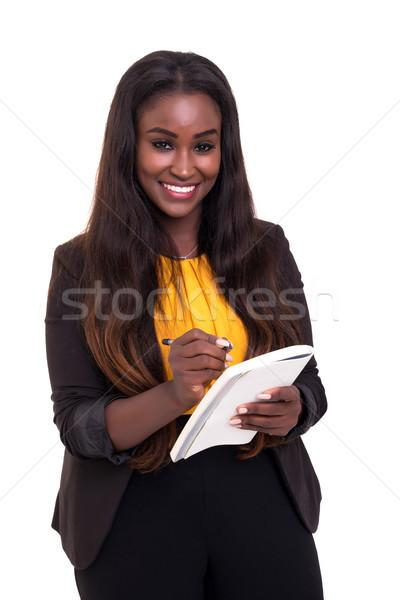 ここで 私に 書く アフリカ ビジネス女性 ストックフォト © hsfelix