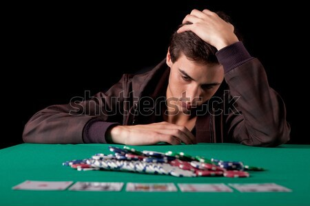 Man playing poker Stock photo © hsfelix