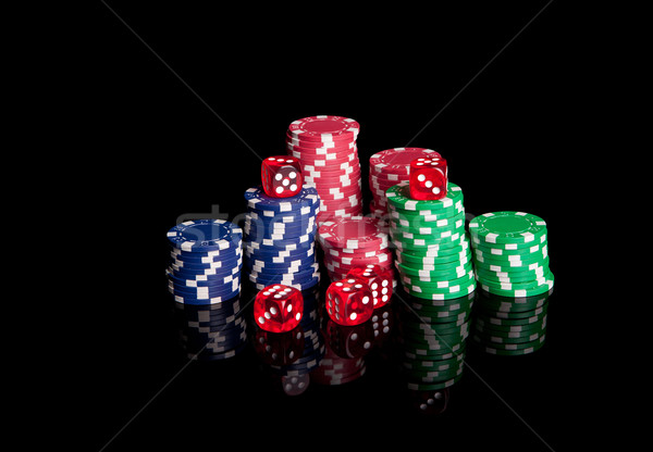Poker chips and dices Stock photo © hsfelix