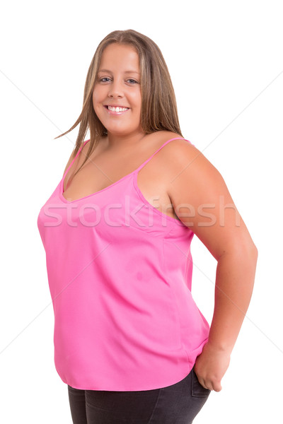 Stock photo: Overweighted woman