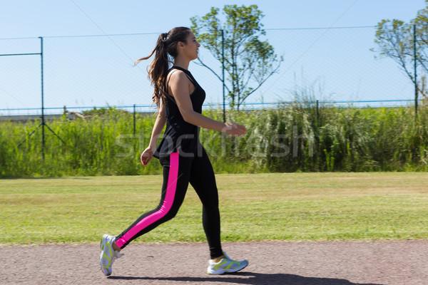 Fitness hermosa ejercicio parque Foto stock © hsfelix