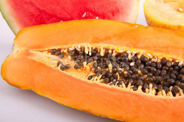 Papaya, melon and watermelon Stock photo © hsfelix