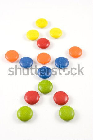 Doll made of colored smarties Stock photo © hsfelix