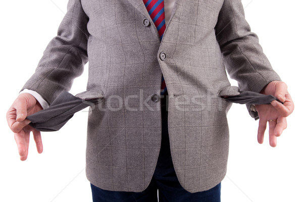 Сток-фото: человека · пусто · изолированный · белый · бизнеса · стороны