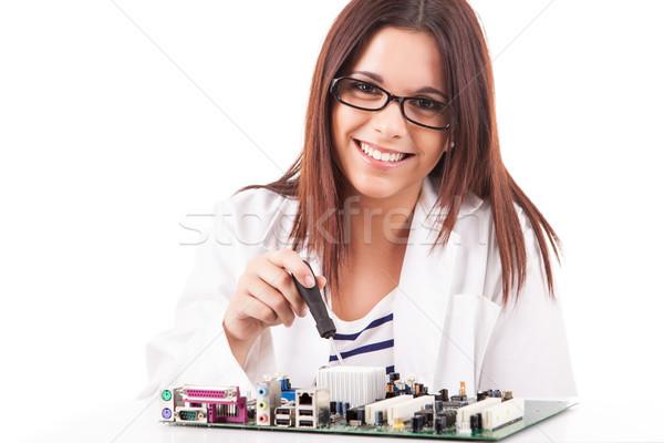 コンピュータ 技術者 幸せ 成功した 小さな ビジネス ストックフォト © hsfelix
