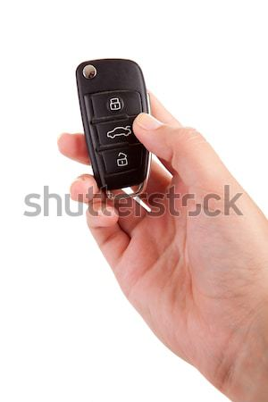 Woman with car key Stock photo © hsfelix
