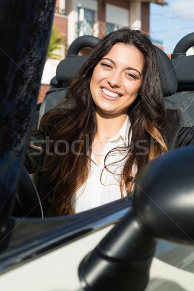 ストックフォト: ビジネス女性 · スポーツカー · 小さな · 成功した · 豪華な · 車