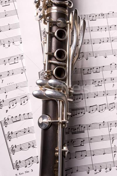 фотография изолированный ноты музыку образование черный Сток-фото © hsfelix