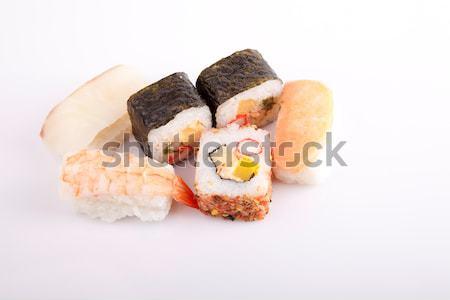 Sushi pezzi isolato bianco alimentare ristorante Foto d'archivio © hsfelix