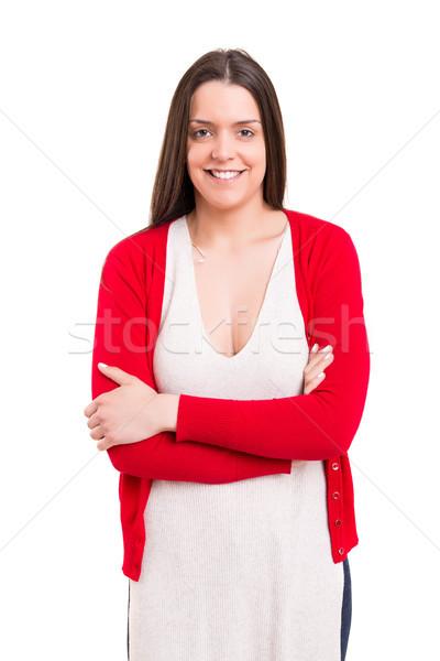Fiatal gyönyörű stúdiófelvétel lezser nő lány Stock fotó © hsfelix