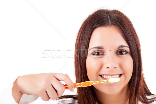 Woman with great teeth Stock photo © hsfelix