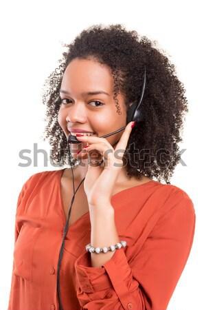 Afrikai nő stúdiófelvétel gyönyörű szexi munka Stock fotó © hsfelix
