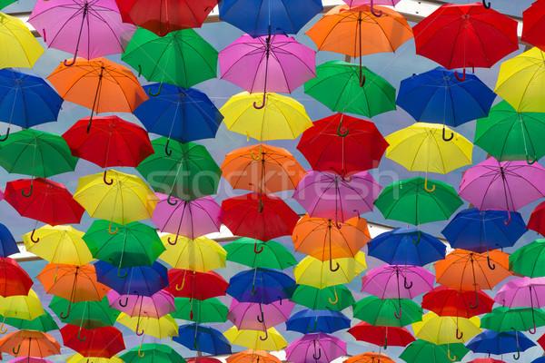 Parapluies ciel ville texture rue art Photo stock © hsfelix