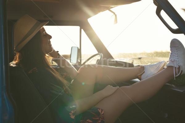 Ostatni lata wakacje drogowego podróży podróży Zdjęcia stock © hsfelix