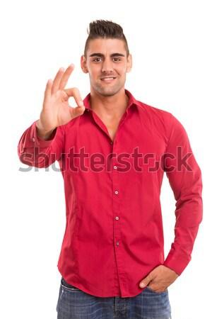 Man signaling ok Stock photo © hsfelix