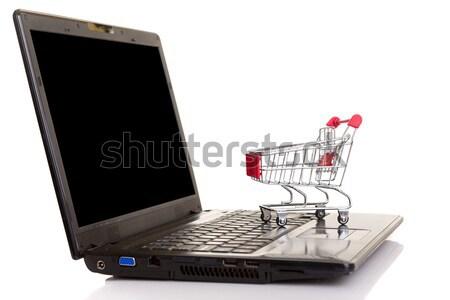 Корзина портативного компьютера бизнеса технологий ноутбук Сток-фото © hsfelix