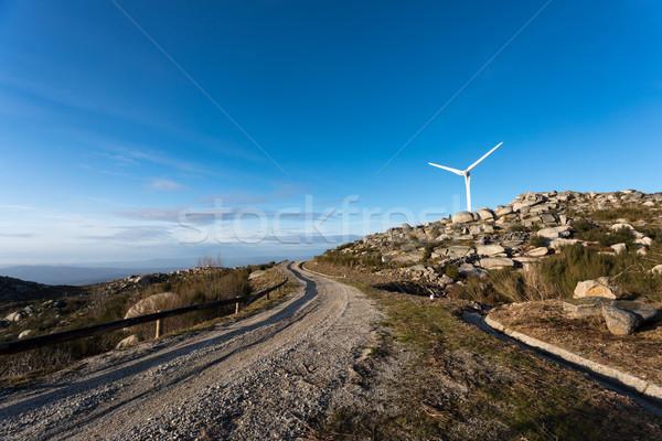 Vento energia belo blue sky sol tecnologia Foto stock © hsfelix