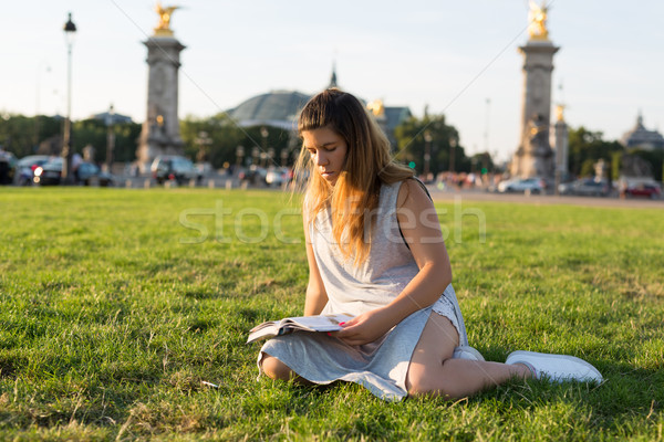 Lucky girl on vacations in Paris Stock photo © hsfelix