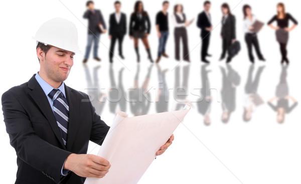 Homem de negócios posando negócio homem feliz trabalhar Foto stock © hsfelix