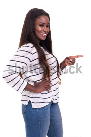 Belo mulher jovem isolado branco menina Foto stock © hsfelix