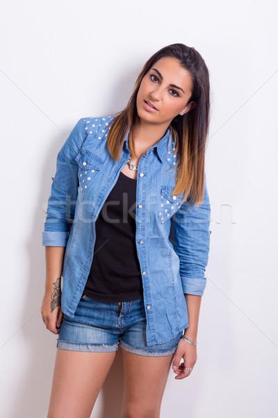 женщину красивой молодые случайный девушки Сток-фото © hsfelix